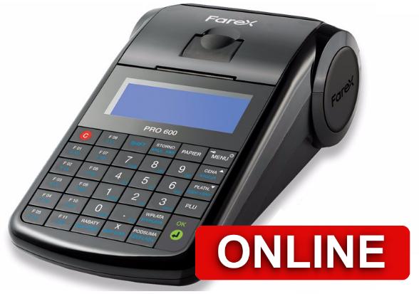 Kasa fiskalna Farex 600 ONLINE